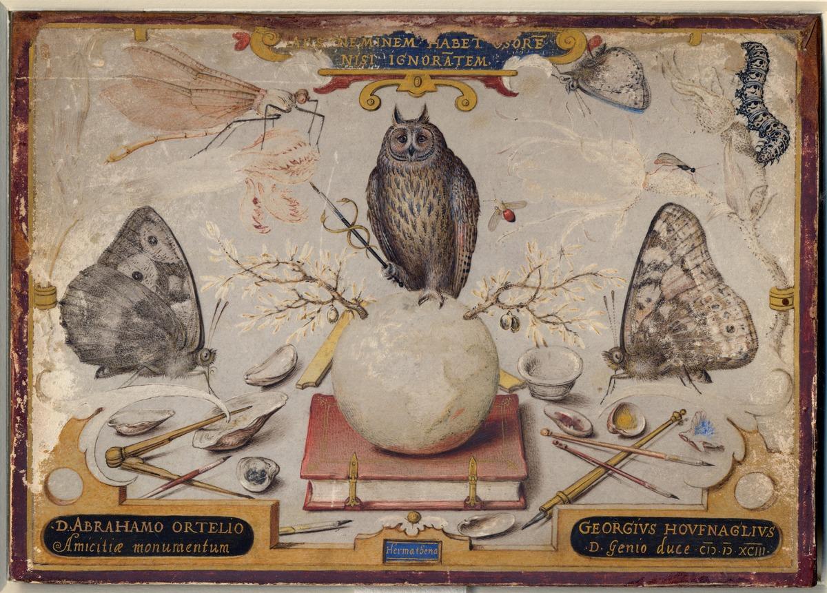 Allegorie voor Abraham Ortelius